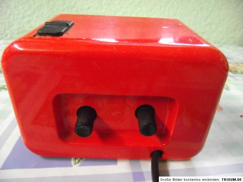 60er 70er Wecker Elektrowecker Rot Alarm Panton Vintage