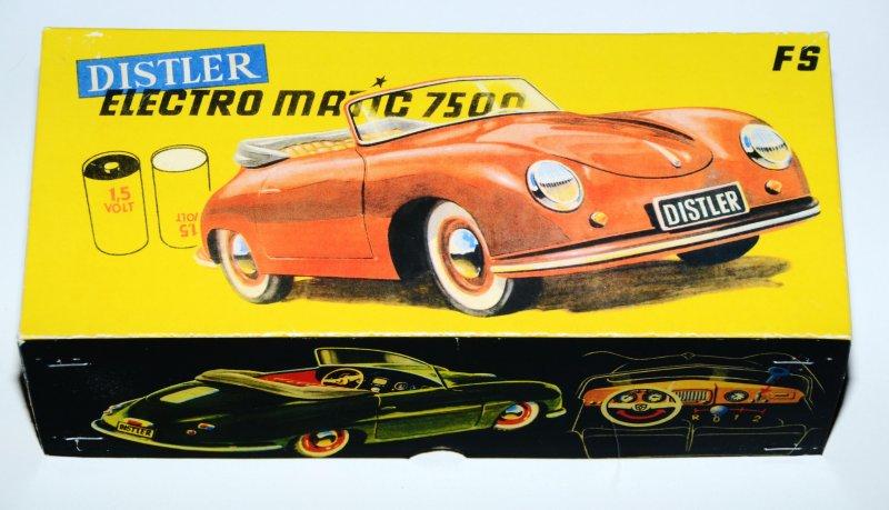 Reprobox für den Distler Porsche mit 1,5 Volt Rundbatterie