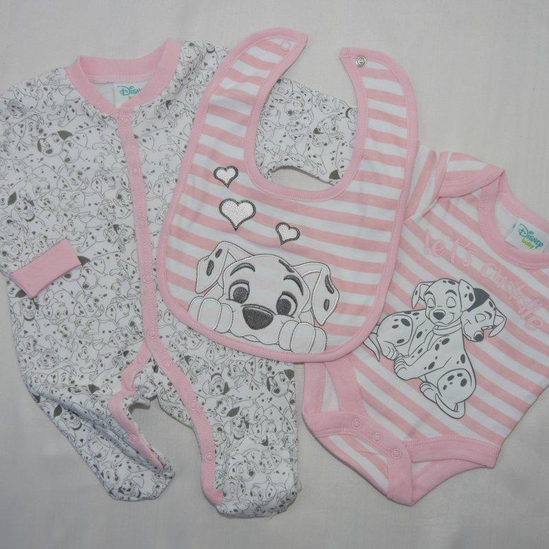 NEU 3 tlg.Baby Mädchen Strampler Erstlingsouitfit Disney Bambi