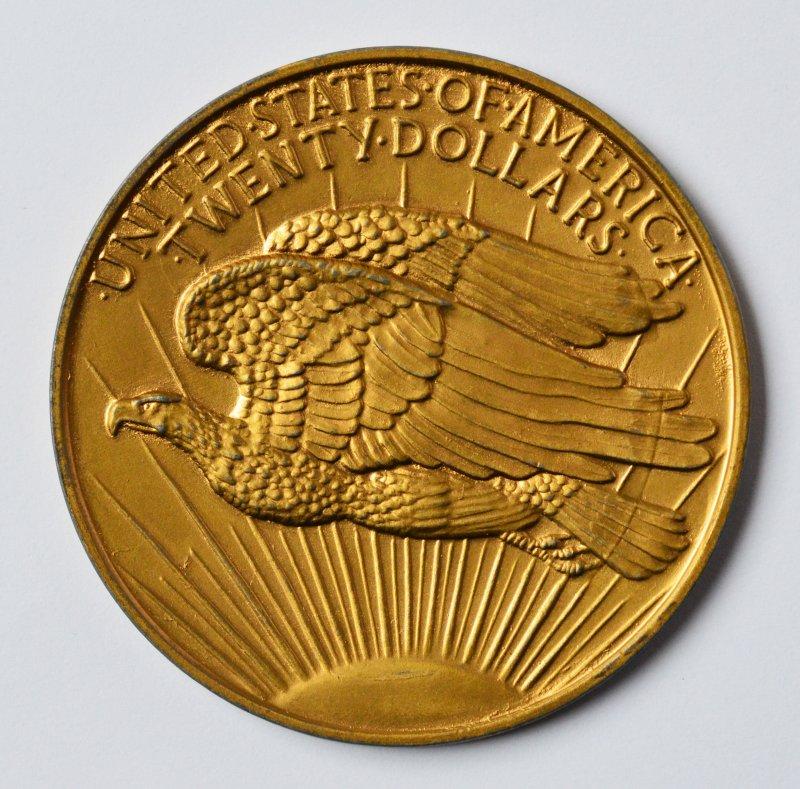 xxl medaille aluminium vergoldet 72 g usa 20 liberty
