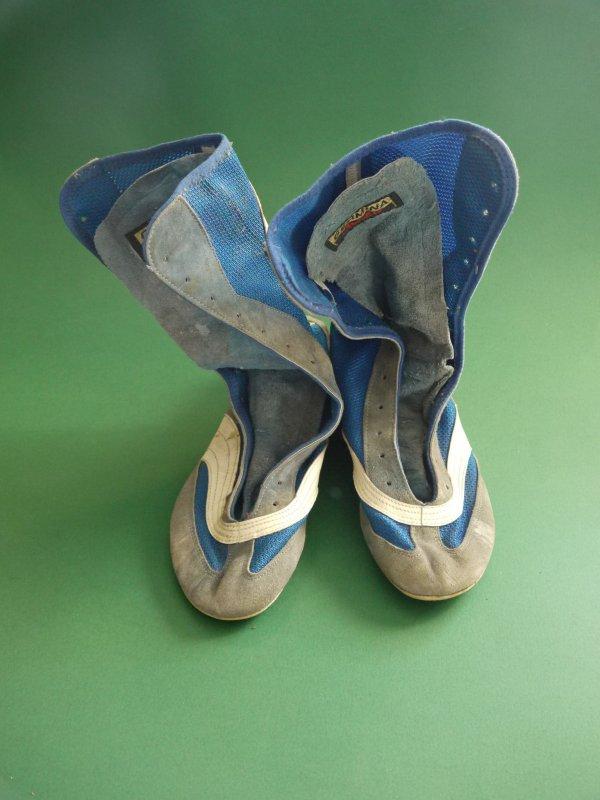 Details zu Germina Avanti DDR Schuhe Boxschuhe blau weiß Gr. 25,5 25 12 38 Boxerschuhe