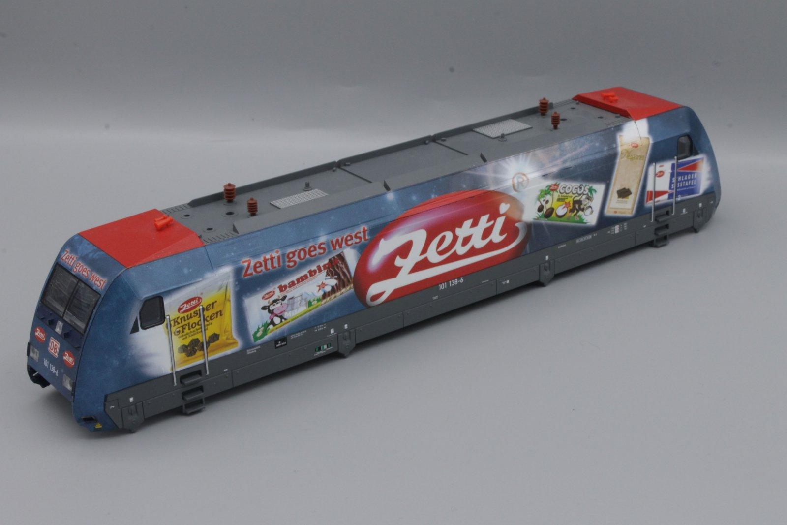 Ersatzteil Piko BR 101 138-6 Gehäuse DB mit Zetti-Werbung
