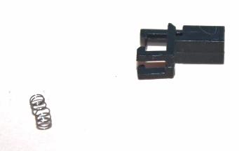 Ersatzteil Piko H0 218 NEM Kupplungsschacht mit Feder - schwarz