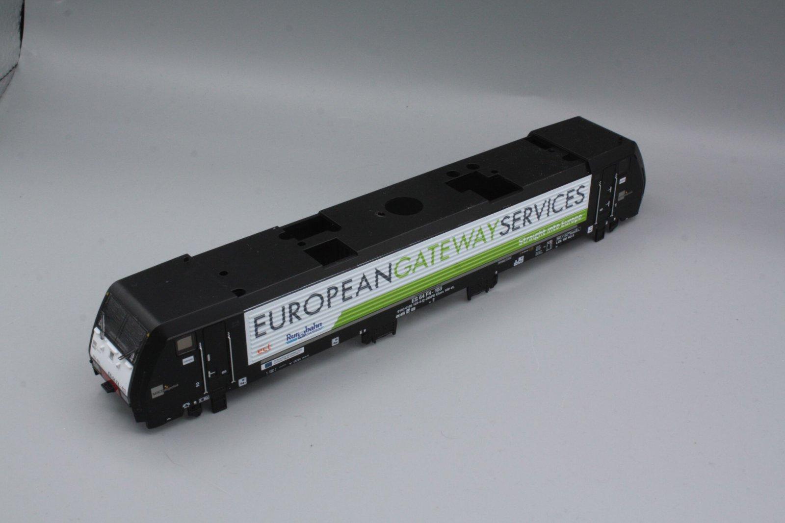 Ersatzteil Piko 189 Gehäuse  Rurtalbahn schwarz MRCE Dispolok