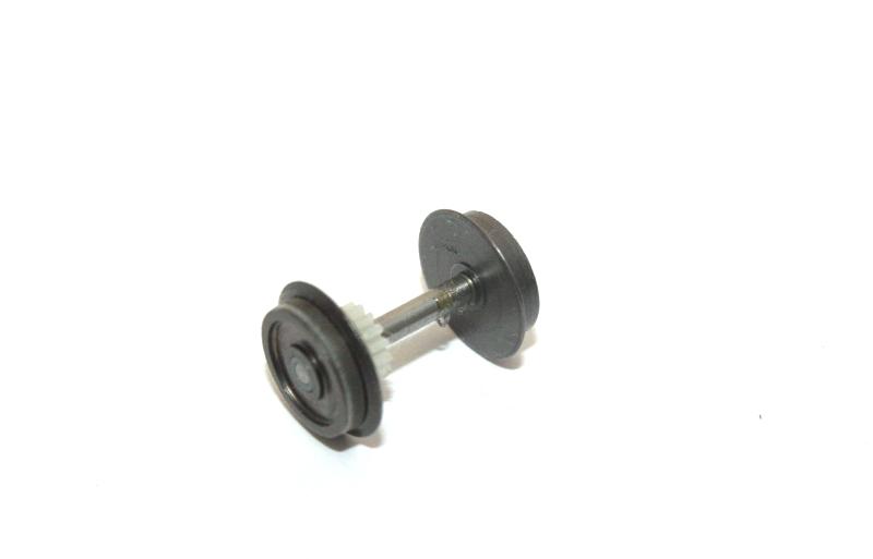 Piko H0 119 / 219 / 118 / 228 Wechselstrom-Radsatz mit Zahnrad m. 1 Haftreifen