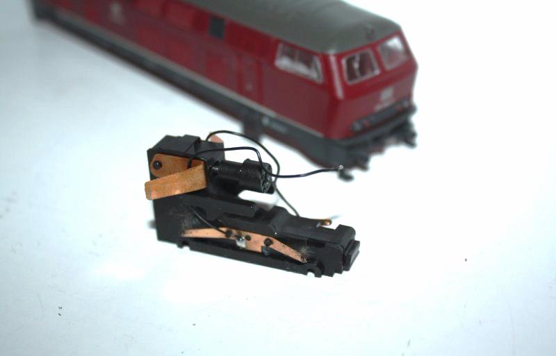 Ersatzteil Roco 215 / 218 Getriebe für seitliche Zahnräder Var. 2