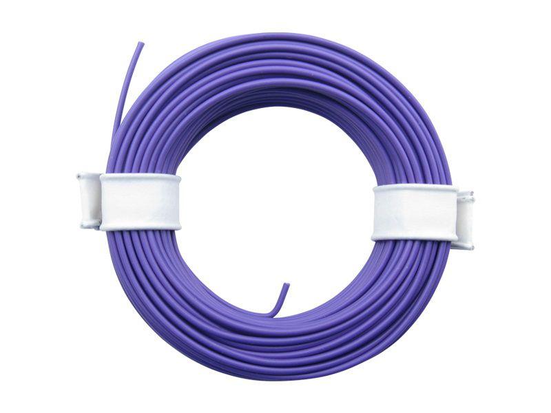 (0,13 €/m) 10 m Litze  violett 0,14 mm² Kupferlitze Schaltlitze Kabel