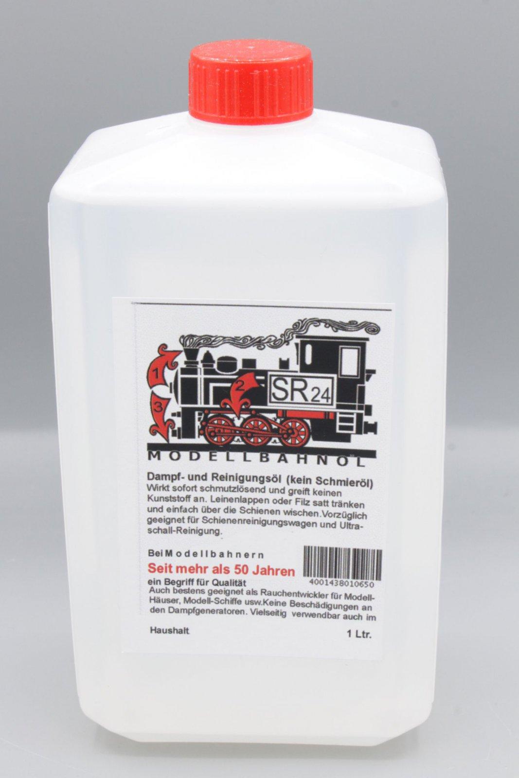 Modellbahnöl SR24 Reinigungsöl und Dampföl 1 Liter Ultraschallbad