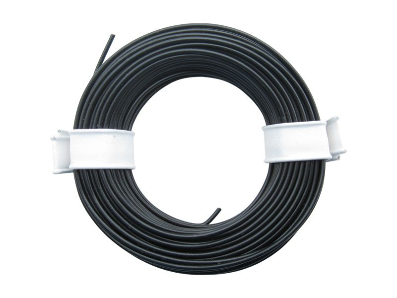 10 m Litze schwarz 0,14 mm² Kupferlitze Schaltlitze Kabel
