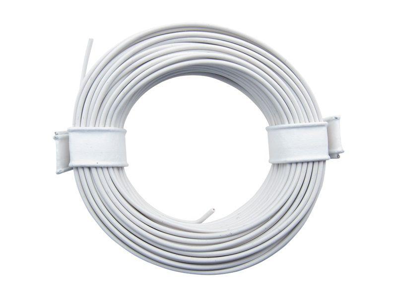10 m Litze weiß 0,14 mm² Kupferlitze Schaltlitze Kabel