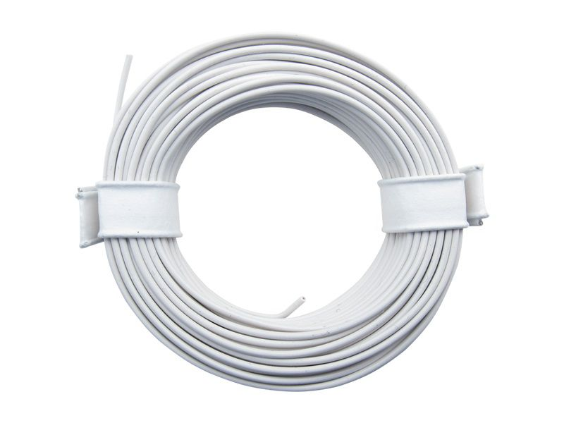 (0,13 €/m) 10 m Litze weiß 0,14 mm² Kupferlitze Schaltlitze Kabel