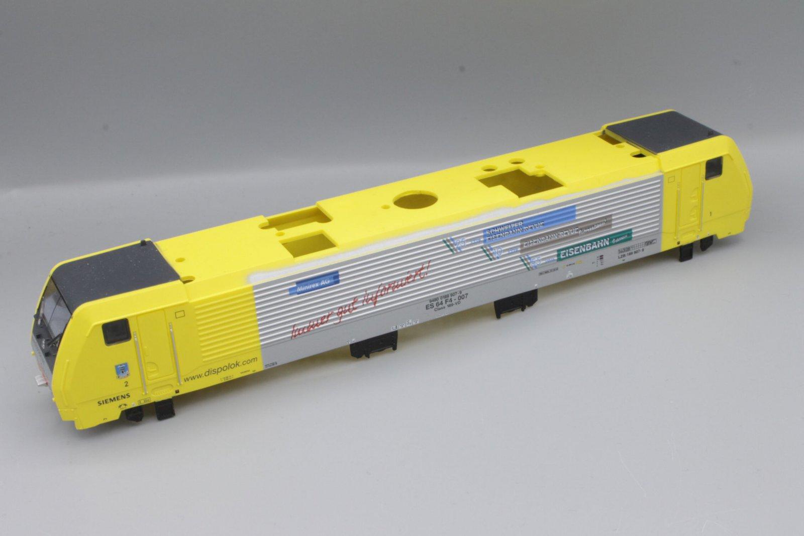 Ersatzteil Piko 189 Gehäuse Dispolok gelb / silber Minirex AG