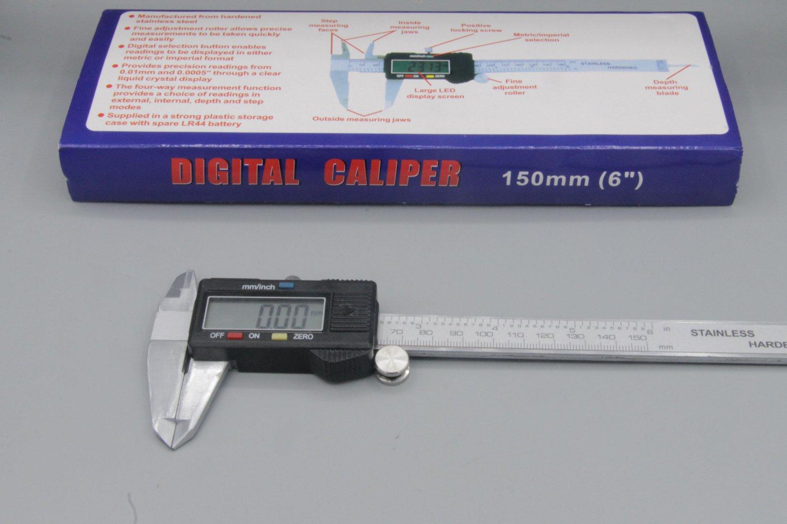 digitale Schieblehre MS-150, Messschieber 150mm, LC-Display, mm/inch-Anzeige NEU
