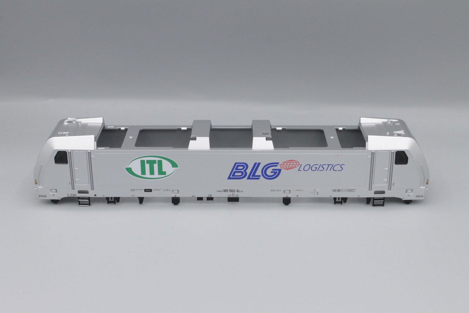 Ersatzteil Piko 185 562- Gehäuse ITL silber BLG mit Fenstern, Führerständen