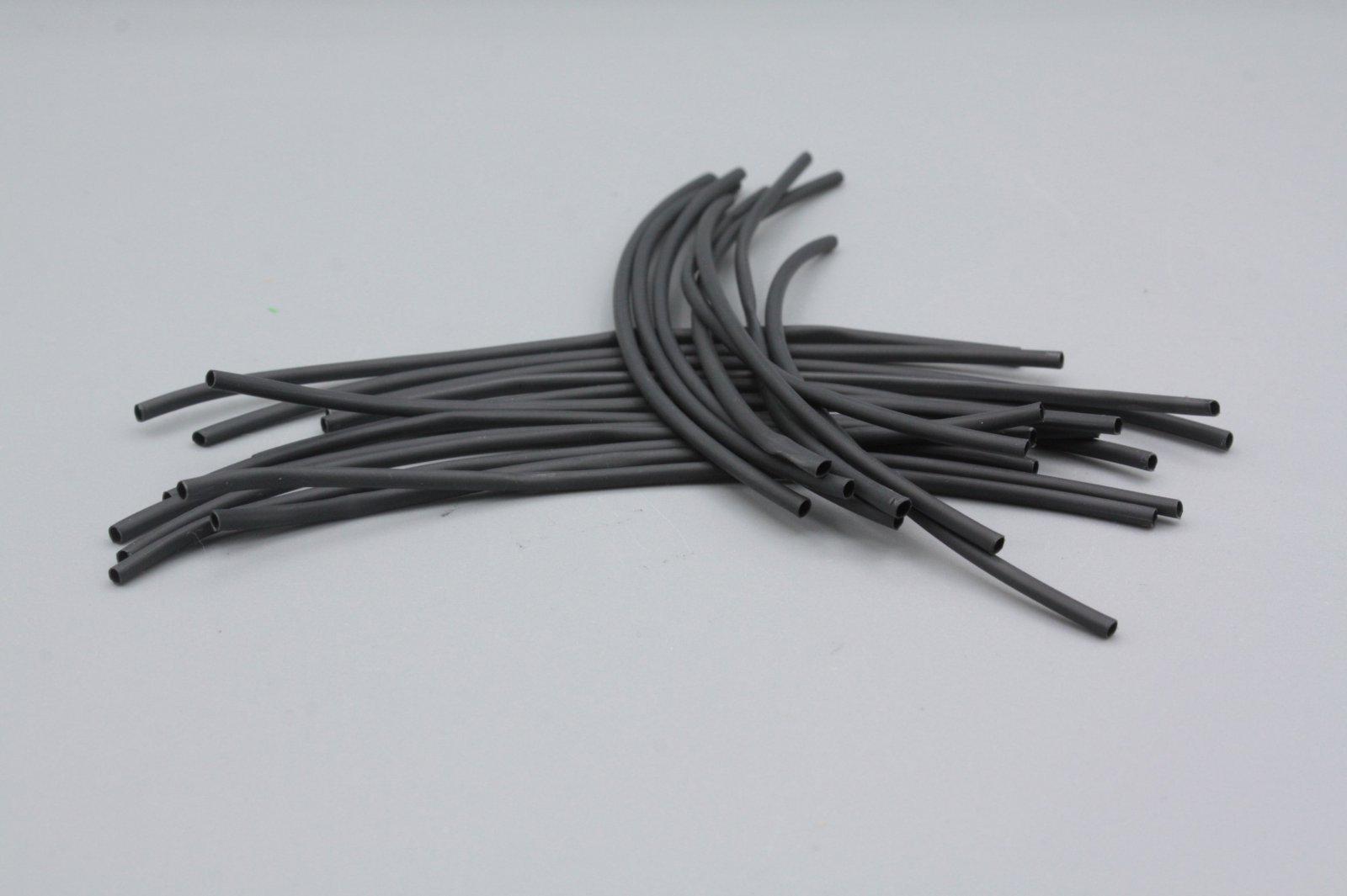 Schrumpfschlauch 1,5 mm  schwarz  2m in Stücken je 10 cm