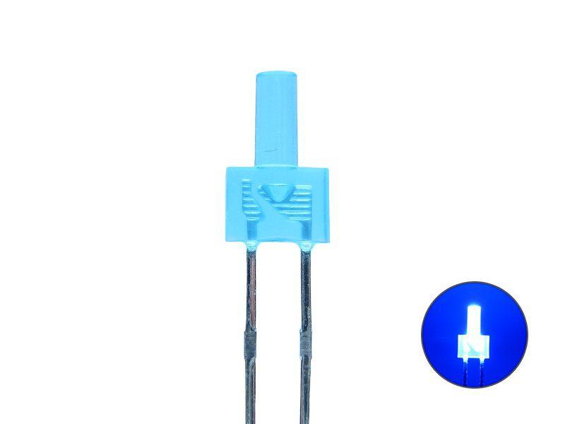 Tower LED 2mm - blau 2,4 V diffus - Mini LED eingefärbtes Gehäuse Miniatur blau
