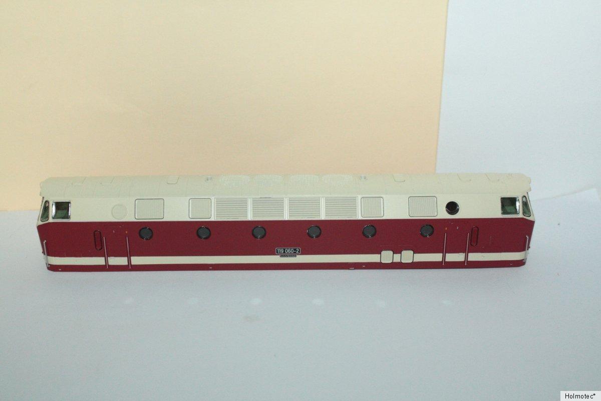 Ersatzteil Piko H0 119 060 -2 Gehäuse komplett - m. Fenstern, Führerständen neu