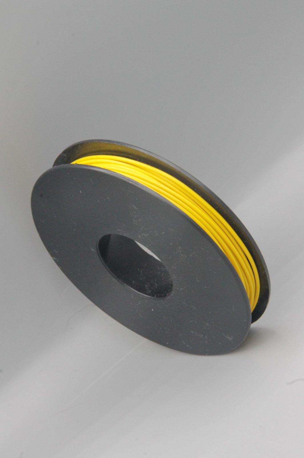25 m Spule LIYV Kabel Litze flexibel  gelb 0,25 mm² Kupferlitze Kabel