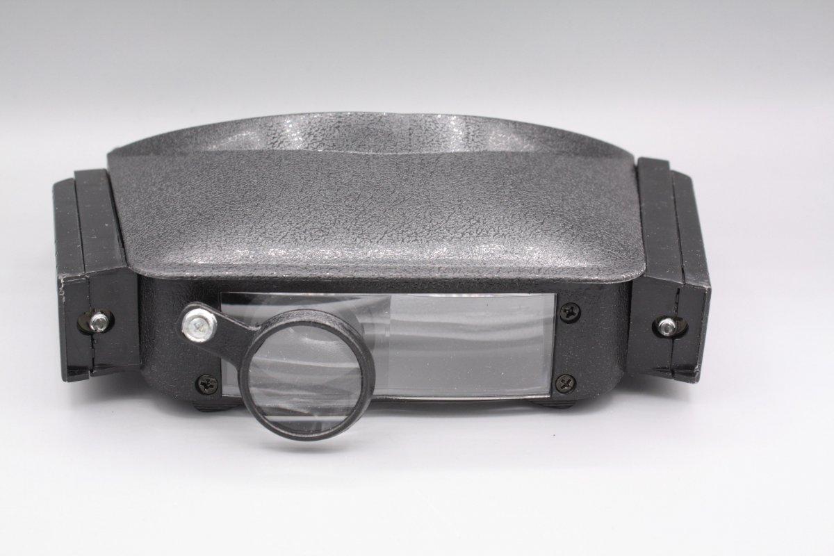Stirnlupe Lupenbrille mit Beleuchtung bis 4,8-fache Vergrößerung Kopflupe