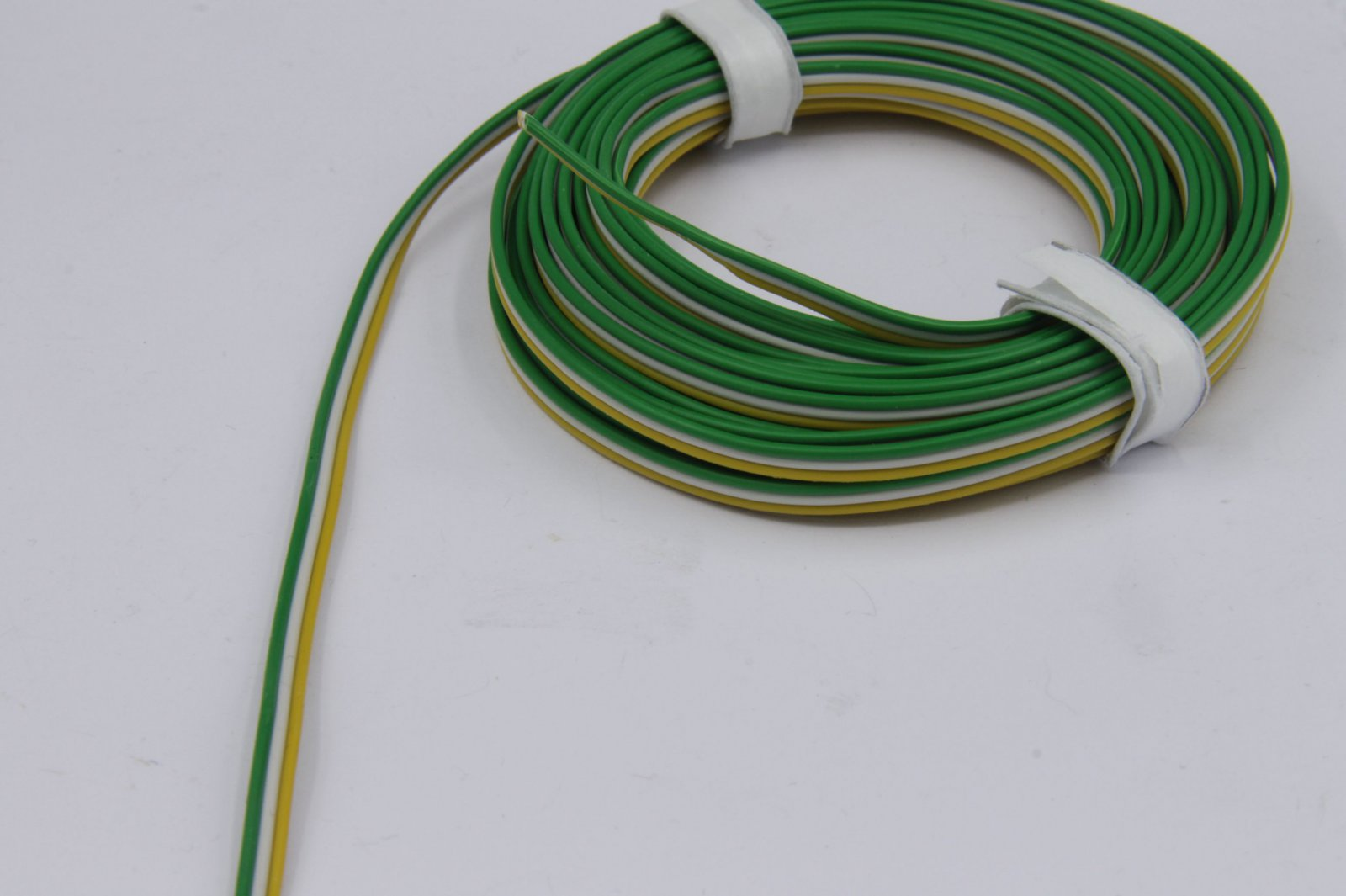5m Drillingslitze 3 x 0,14mm² für Trix gelb/weiß/grün