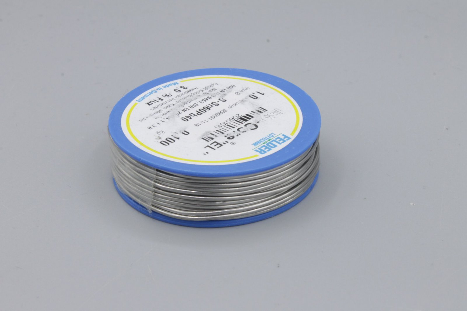 Lötzinn 1mm bleihaltig - L-SN60/40 mit 3,5% Flussmittel 100g Lötdraht Lötzinn