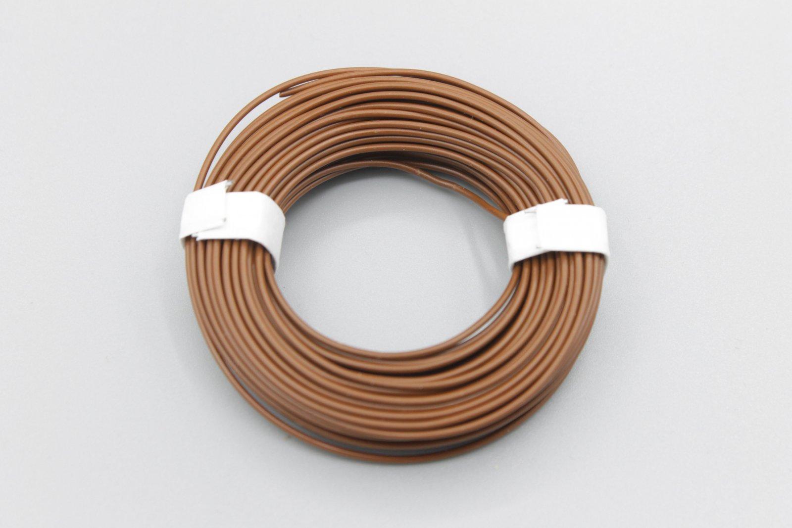 (0,13 €/m) 10 m Litze  braun 0,14 mm² Kupferlitze Schaltlitze Kabel