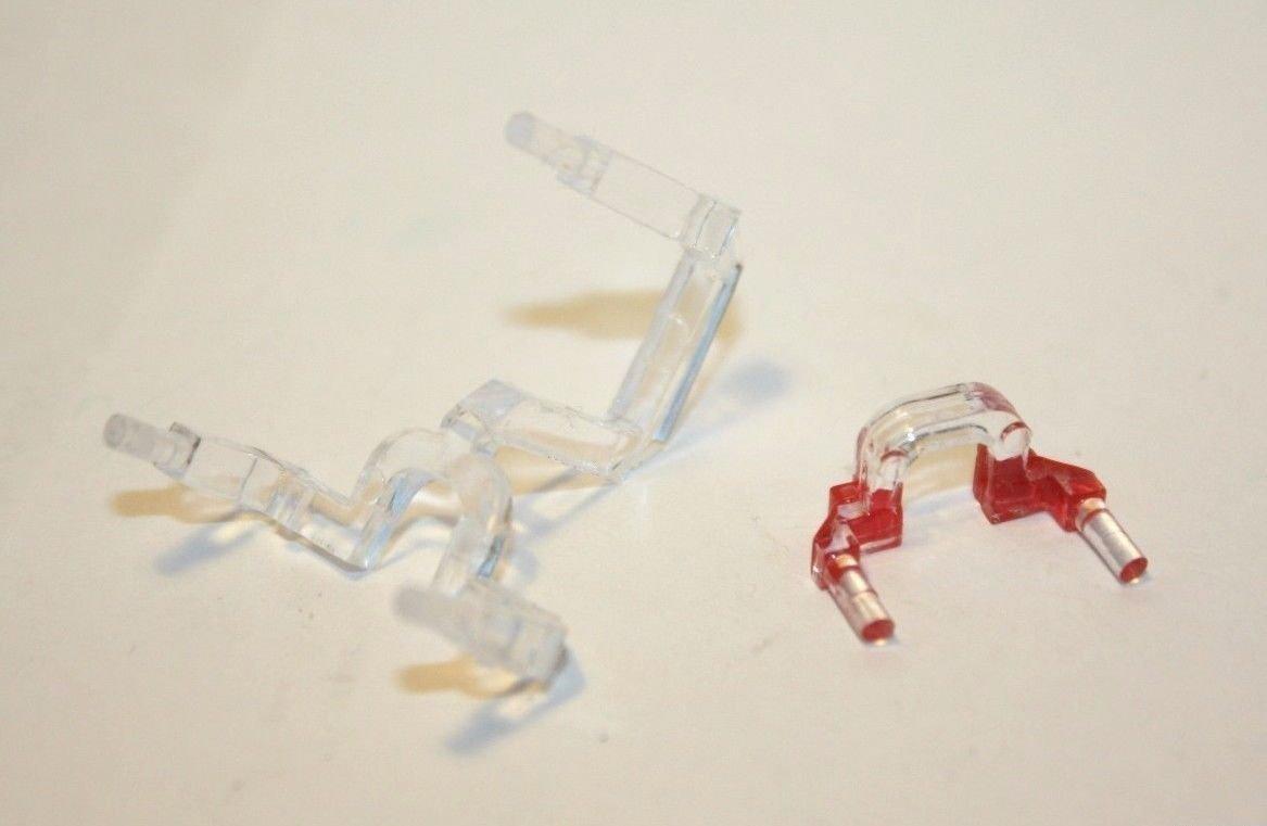 Ersatzteil Piko H0 218 Lichtleiter - 1 Paar für rot und weiß
