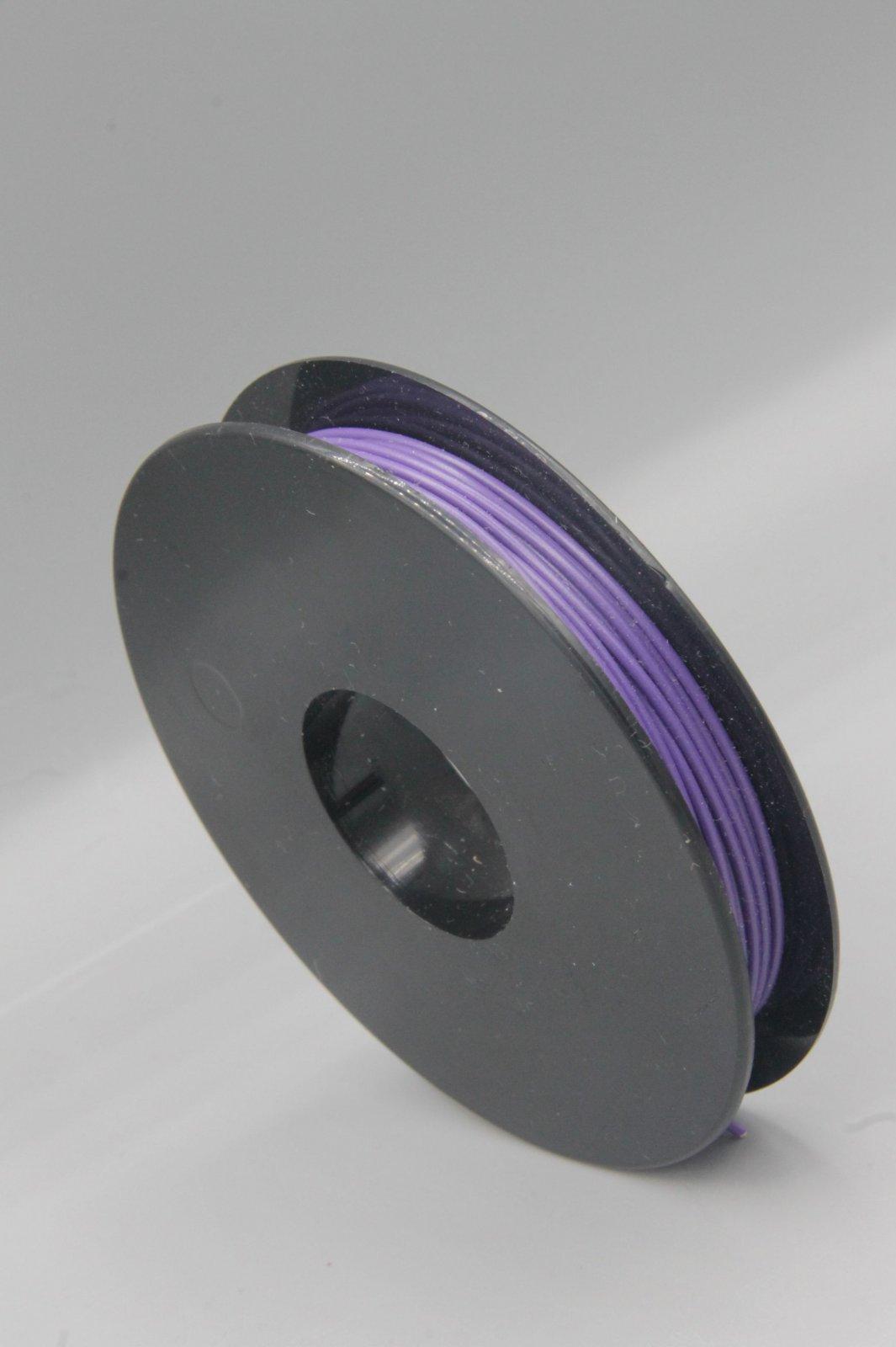 25 m Spule LIYV Kabel Litze flexibel  violett 0,25 mm² Kupferlitze Kabel