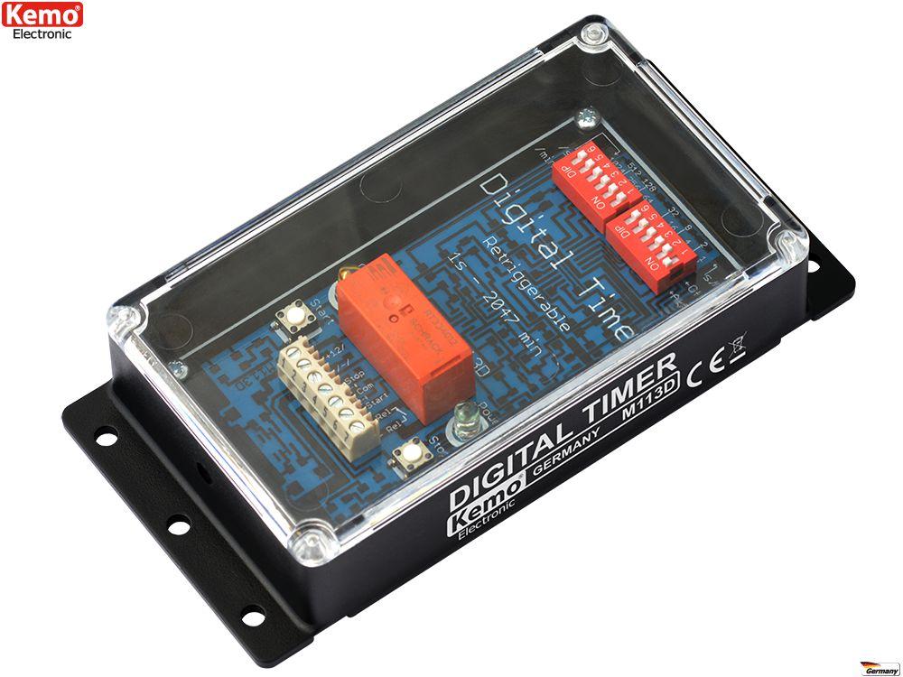 KEMO M113D Zeitschalter digital Timer 12 V/DC