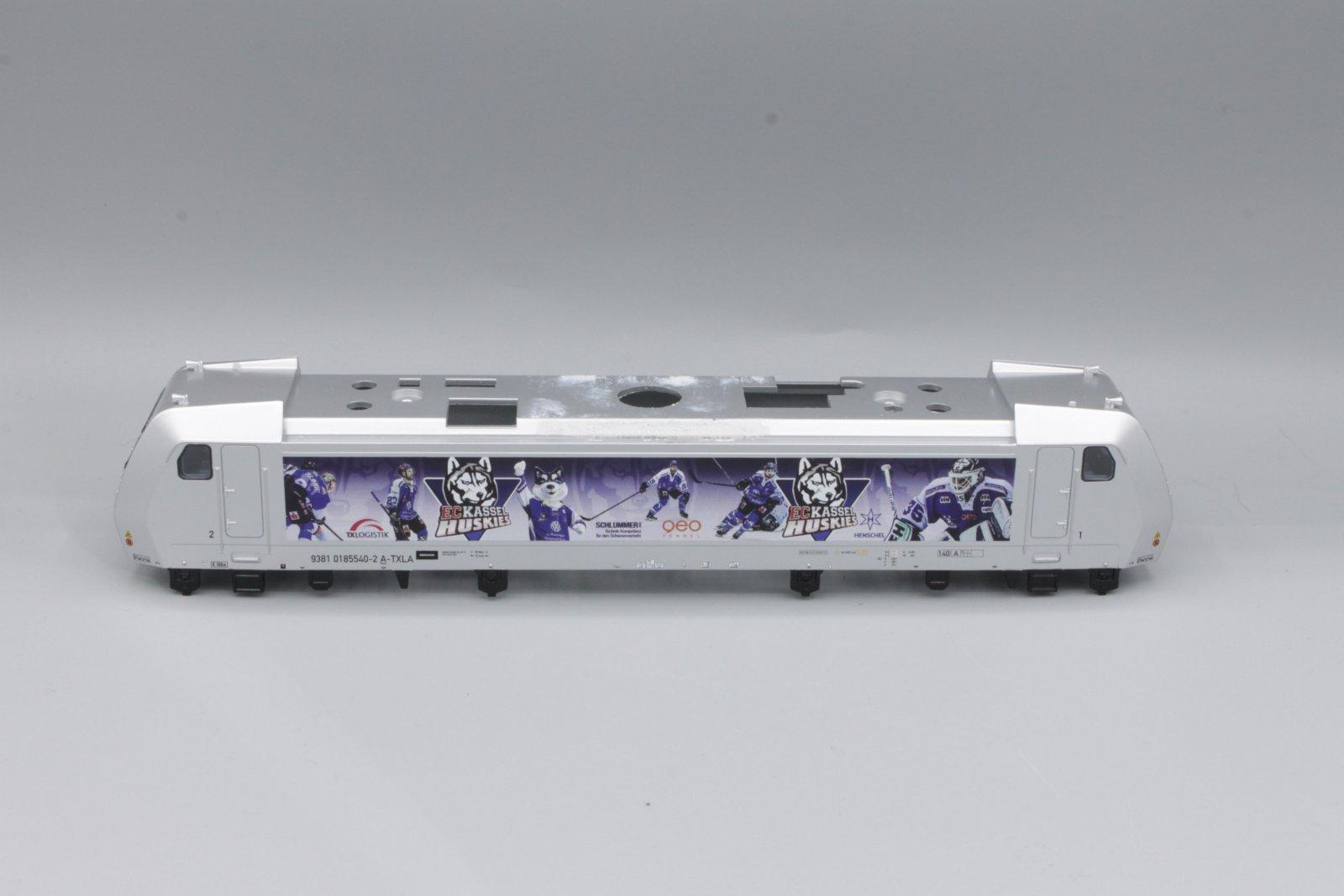 """Ersatzteil Piko 185 Gehäuse """"Kassel Huskies"""" - TX Logistix silber"""