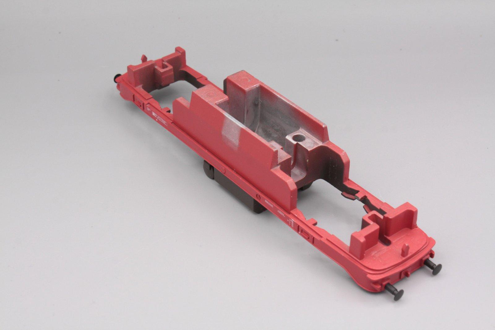 Ersatzteil Piko H0 218 Rahmen 218 mit Puffern rot für orientrote Lok von 218 114