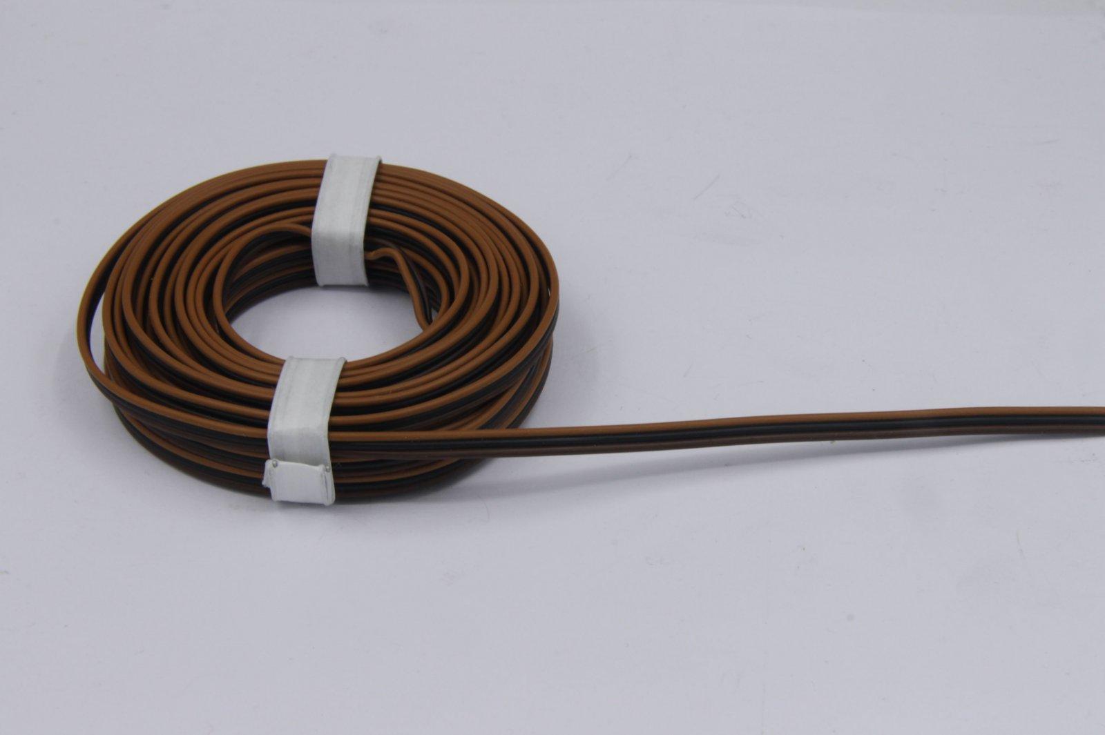 5m Drillingslitze 3 x 0,14mm² für Fleischmann braun/schwarz/braun