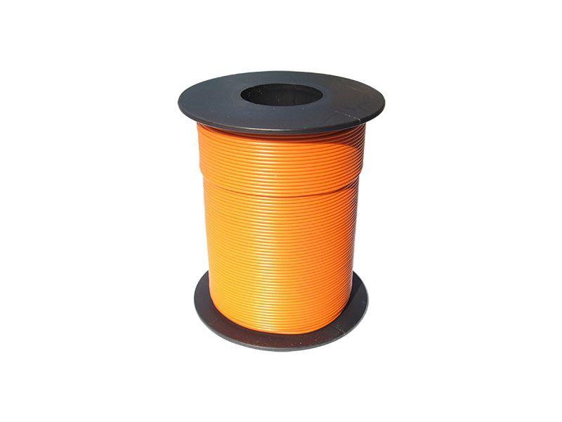 100 m LIY Kabel Litze orange 0,14 mm² flexibel Kupferlitze Schaltlitze orange
