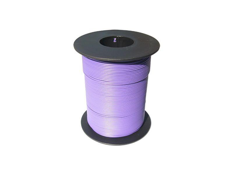 100 m LIY Kabel Litze lila 0,14 mm² flexibel Kupferlitze Schaltlitze violett