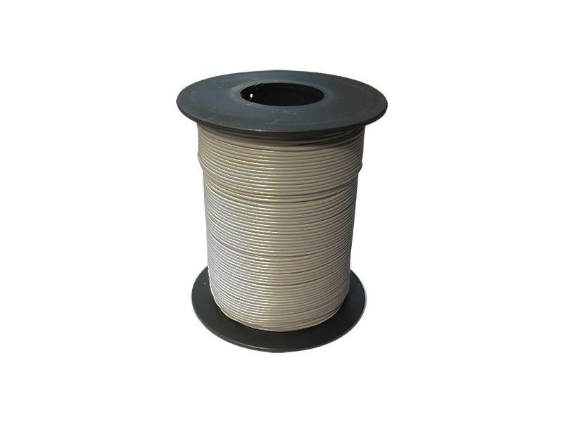 100 m LIY Kabel Litze grau 0,14 mm² flexibel Kupferlitze Schaltlitze