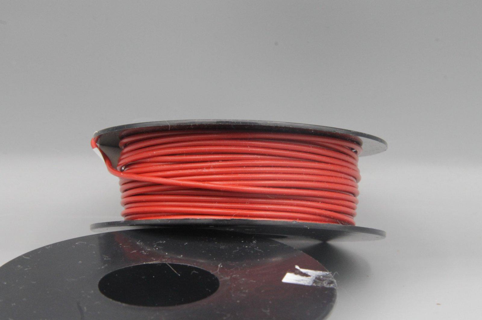 25 m LIYv Kabel Litze rot 0,5 mm² flexibel Kupferlitze Schaltlitze