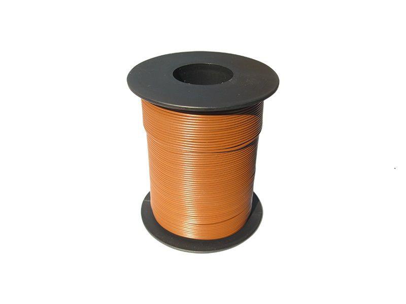 100 m LIY Kabel Litze braun 0,14 mm² flexibel Kupferlitze Schaltlitze
