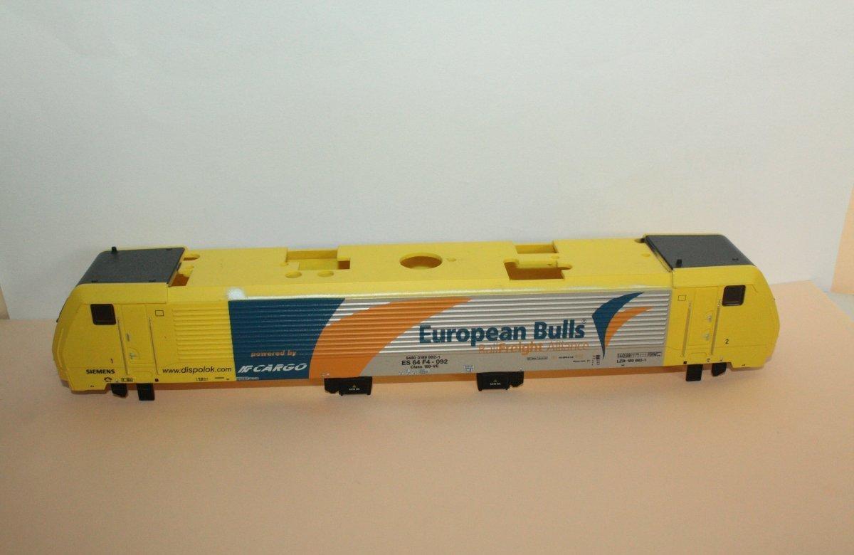 Ersatzteil Piko 189 Gehäuse European Bulls gelb/silber Dispolok ES 64 F4-092