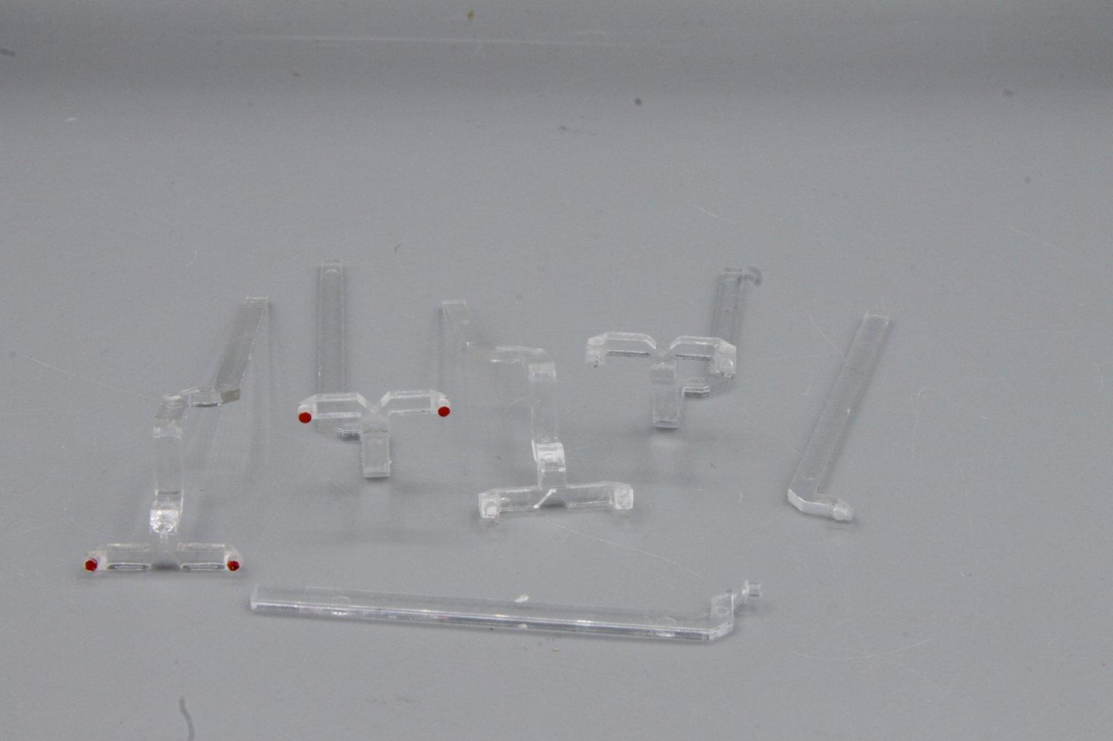 Ersatzteil Roco 140 Lichtleitstäbe Satz - 2 Paar - für eine Lok