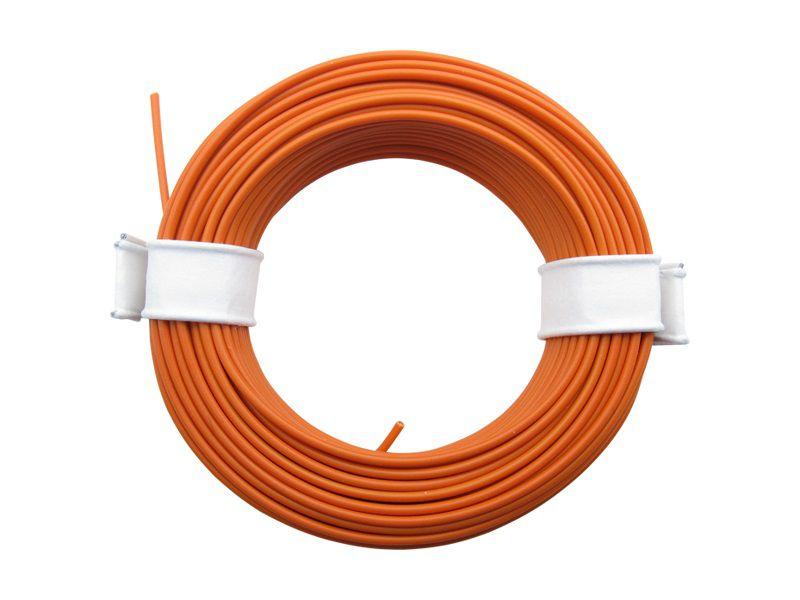 (0,13 €/m) 10 m Litze  orange 0,14 mm² Kupferlitze Schaltlitze Kabel
