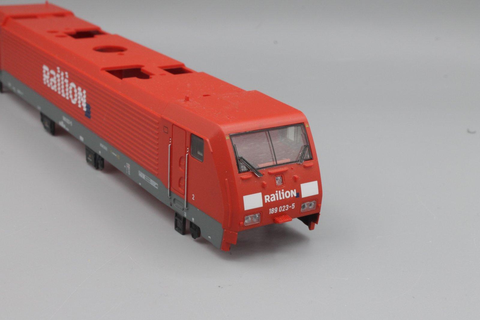Ersatzteil Piko 189 023-5 Gehäuse RAILION verkehrsrot