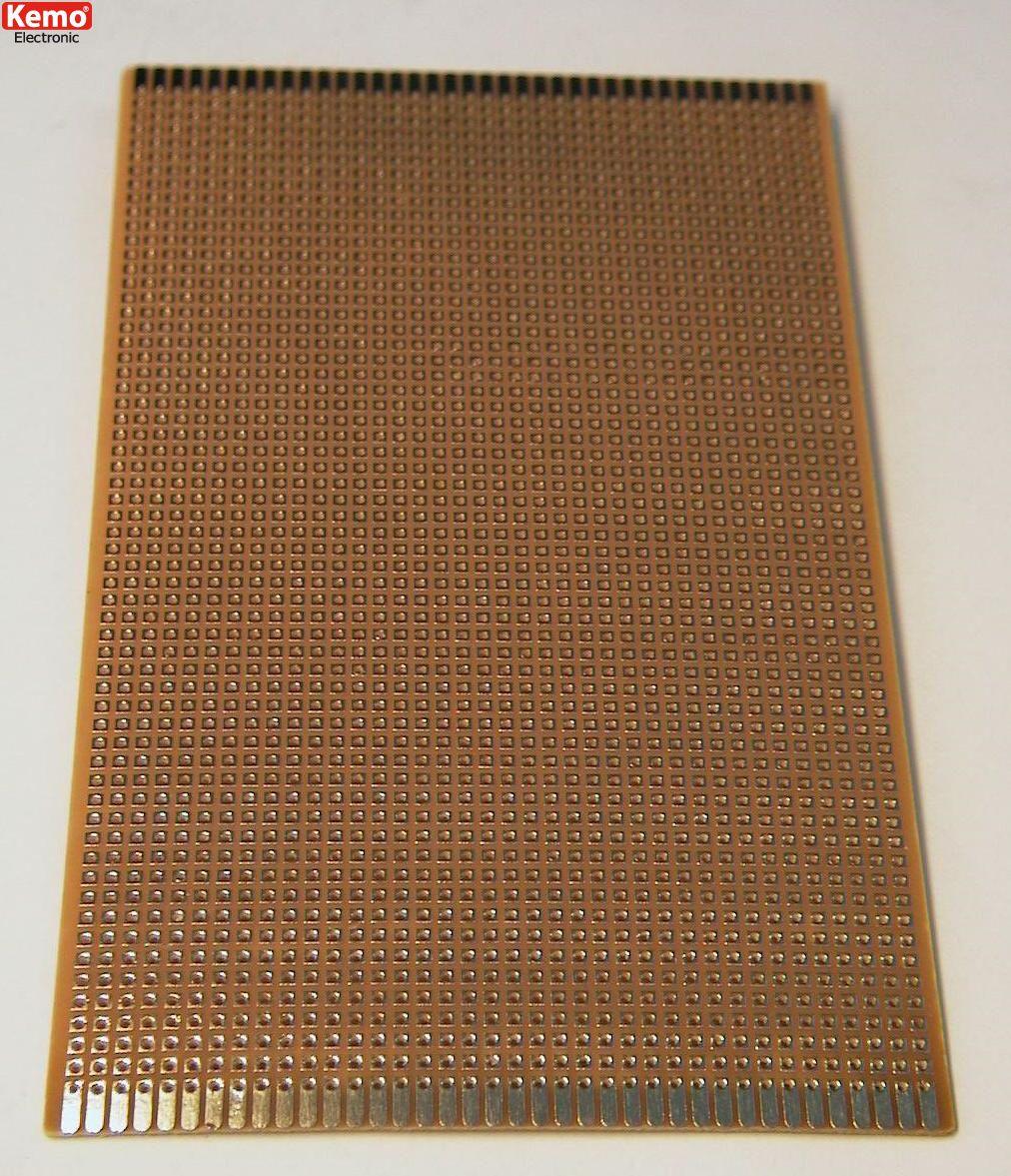 Experimentierplatine 160x100 mm -  Punktraster Platine flash-vergoldet