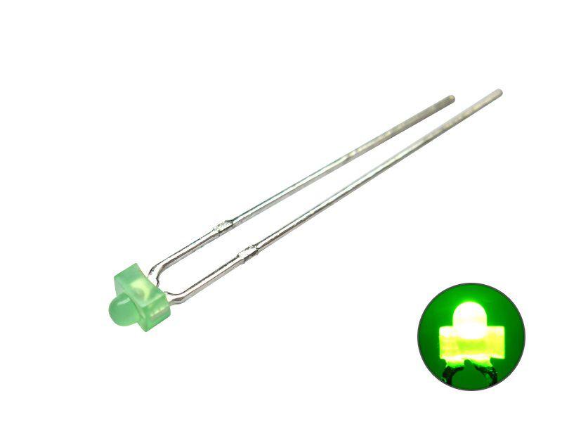 LED 1,8 mm - grün 2,2 V diffus - Mini LED diffus Miniatur eingefärbtes Gehäuse