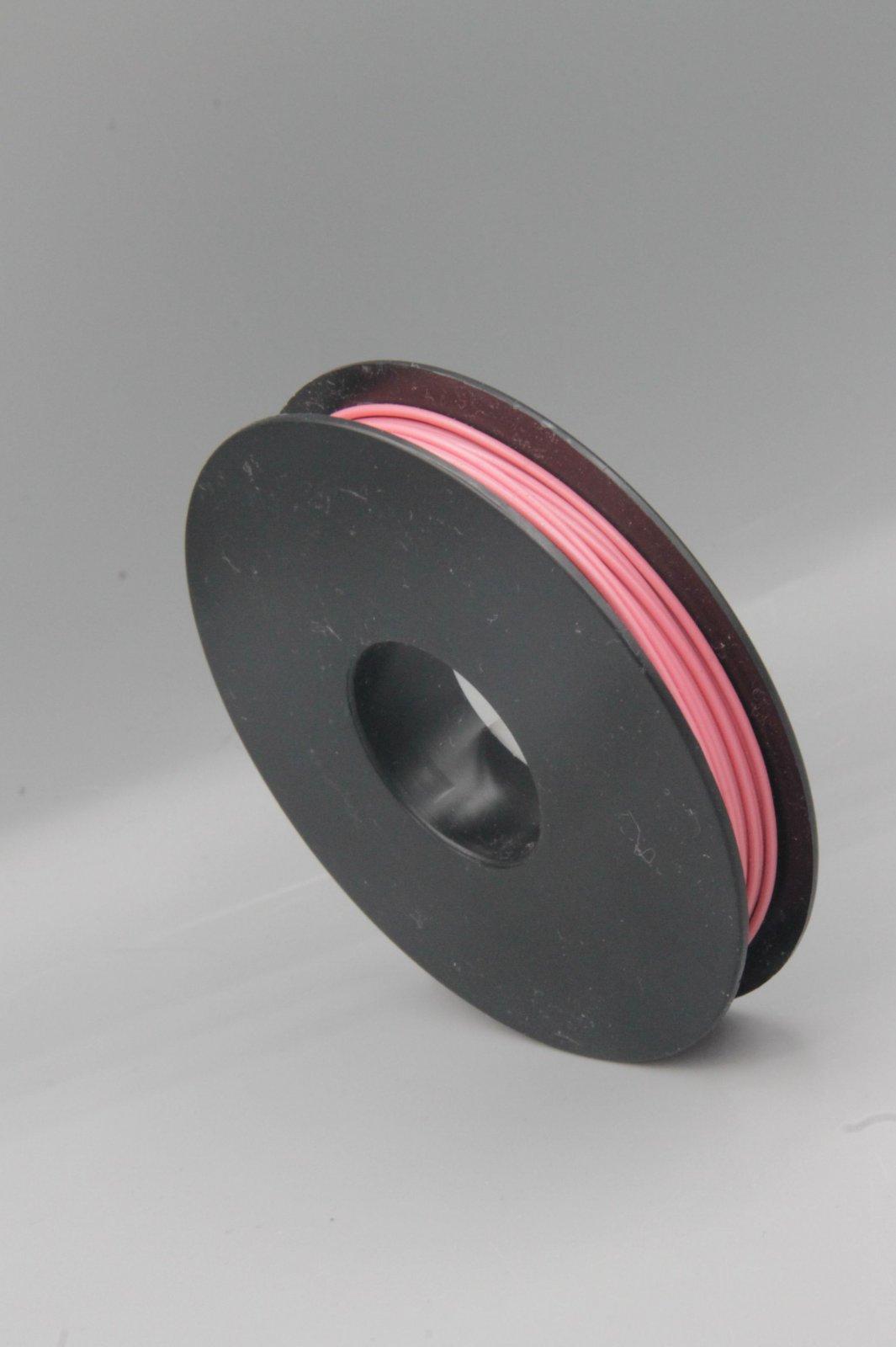 25 m Spule LIYV Kabel Litze flexibel rosa/pink 0,25 mm² Kupferlitze Kabel