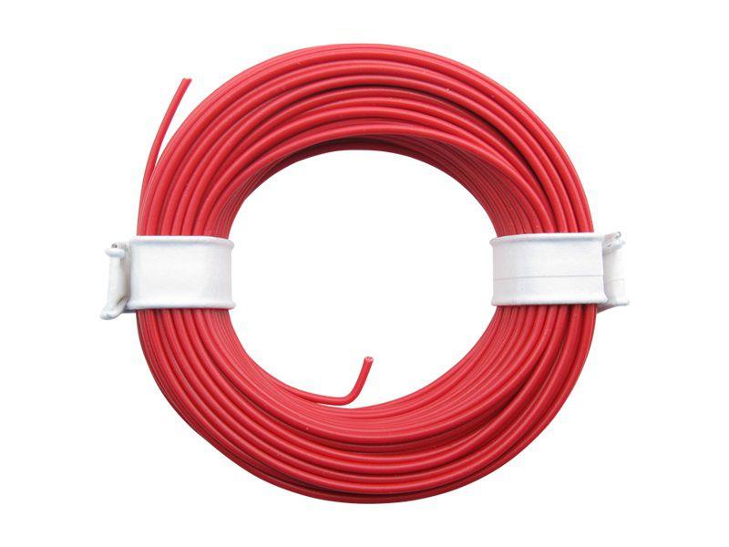 (0,13 €/m) 10 m Litze rot 0,14 mm² Kupferlitze Schaltlitze Kabel Modellbahnkabel