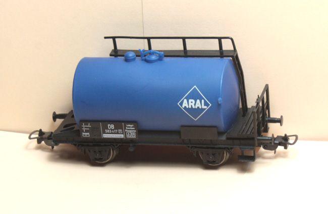 Piko Kesselwagen Aral 2-achsig blau aus Startset