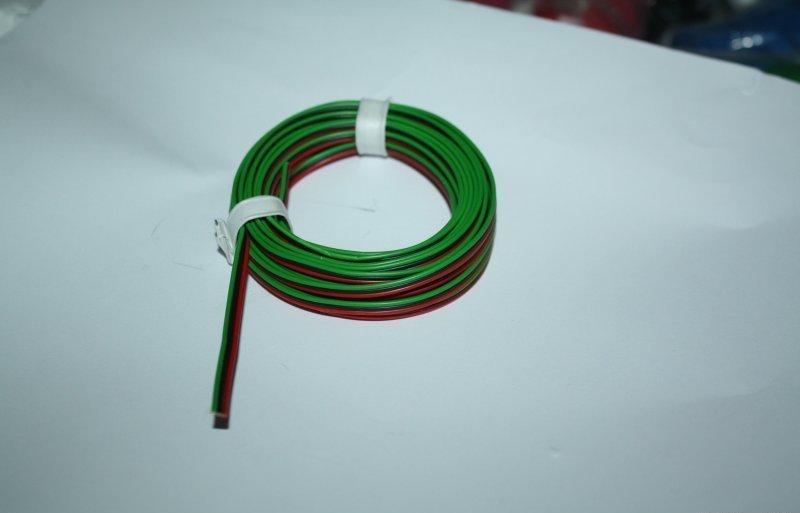 (0,44€/m) 5m flexible Drillingslitze für Roco rot-sw-grün 3 x 0,14 mm² Neuware