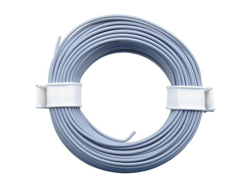 (0,13 €/m) 10 m Litze grau 0,14 mm² Kupferlitze Schaltlitze Kabel