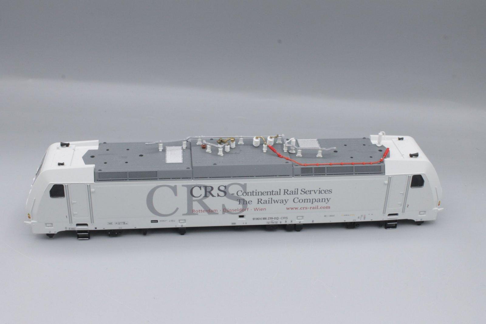 Ersatzteil Piko 186 239- Gehäuse CRS weiß mit Fenstern, Führerständen + Dach