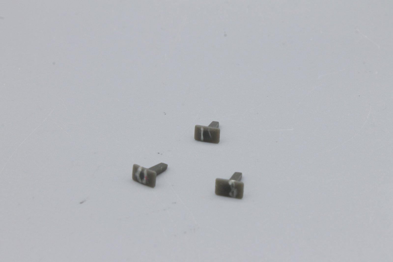 Piko Ersatzteil 1216 Puffer - 4 Stück - grau